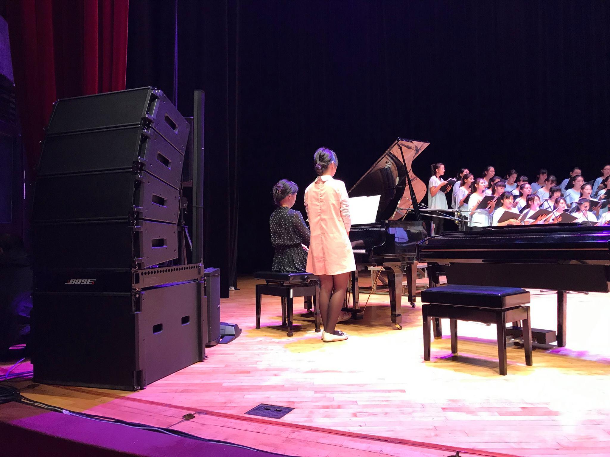 Bose ShowMatch 陣列揚聲器系統在台北國父紀念館2500人的大會堂中再一次獲得完美演出!